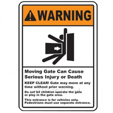 DuraGate WRN-S-S Small Automatic Gate Warning Sign