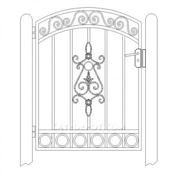 DuraGate WTS-2000 Arch Top Garden Gate