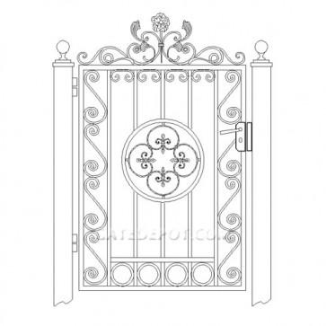 DuraGate WTS-3000 Scroll Top Garden Gate
