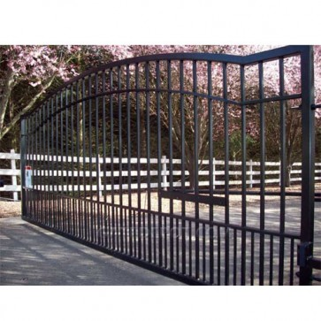 Cornerstone Rain-S13 Rainier Single 13' Wide Steel Driveway Gates