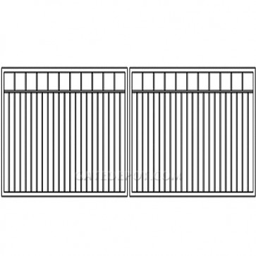 Cornerstone Clack-BP12 Clackamas Bi-Parting 12' Steel Driveway Gate