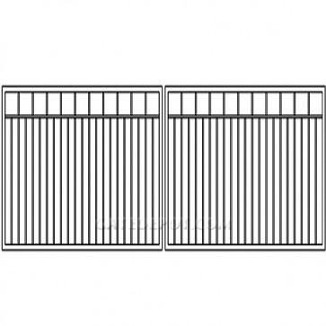 Cornerstone Clack-BP16 Clackamas Bi-Parting 16' Steel Driveway Gate