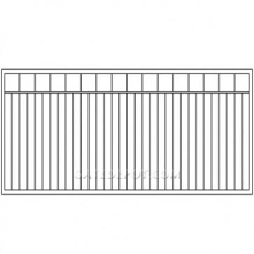 Cornerstone Clack-S10 Clackamas Single 10' Steel Driveway Gate