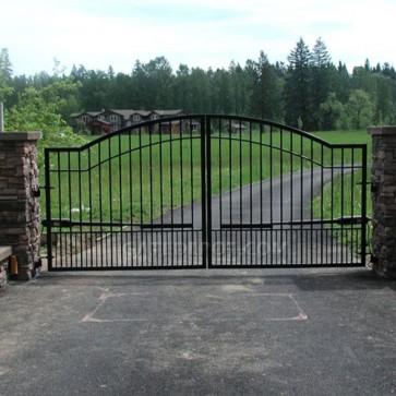 Cornerstone Rain-BP16 Rainier Bi-Parting 16' Wide Steel Driveway Gates