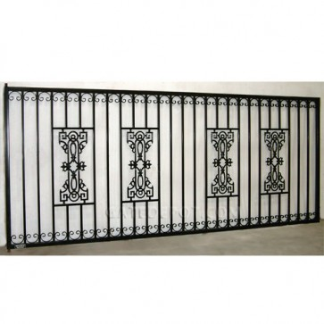 DuraGate GU-4000 Guardian Flat Top 5 Single 14' Wide' Driveway Gate