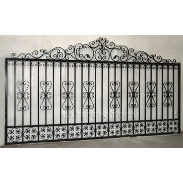 DuraGate GU-5300 Guardian Scroll Top Bi-Parting 12' Driveway Gate
