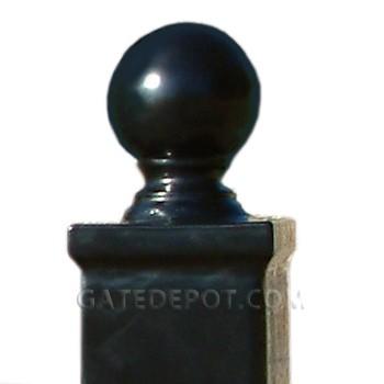 "Cornerstone Steel Ball Cap Driveway Gate Post, Hinge Side, 1/4"""