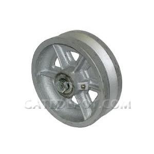 "Duragate Cast Iron V-Groove Wheel, 6"" Standard"