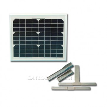 Apollo 210SP 12VDC Solar Panel and Mounting Bracket, 10 Watts