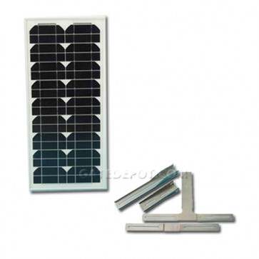 Apollo 212SP 12VDC Solar Panel and Mounting Bracket, 20 Watts