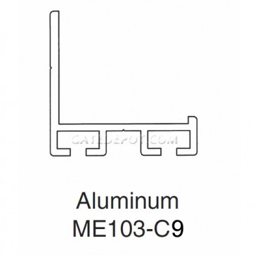 Miller Edge ME103-C9 Aluminum Mounting Channel