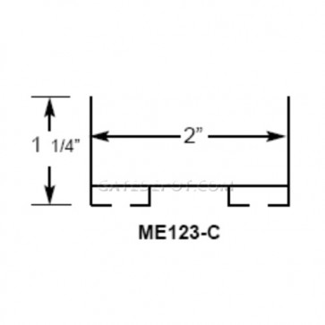 Miller Edge ME123-C Mounting Channel