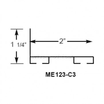 Miller Edge ME123-C3 PVC Mounting Channel