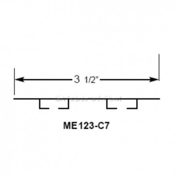 Miller Edge ME123-C7 Mounting Channel