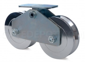 "DoorKing 1201-210 Machined Steel 6"" Wheel Assembly"