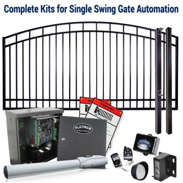 DuraGate KIT-14-AS Arch Top 14' Single Swing Gate & Automation Kit