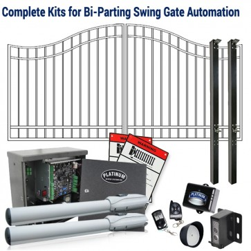 DuraGate KIT-12-BD Bell Curve 12' Bi-Parting Swing Gate & Automation Kit
