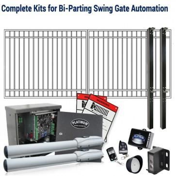DuraGate KIT-14X5-FD Flat Top 14x5' Bi-Parting Swing Gate & Automation Kit