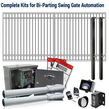 DuraGate KIT-12X6-FD Flat Top 12x6' Bi-Parting Swing Gate & Automation Kit