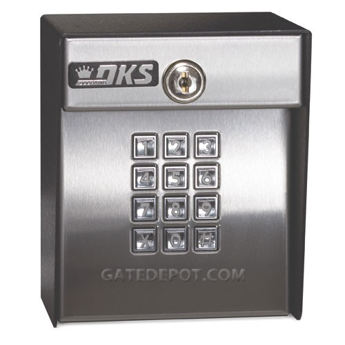 Doorking 1815 051 Surface Mount Lighted Wiegand Output Keypad