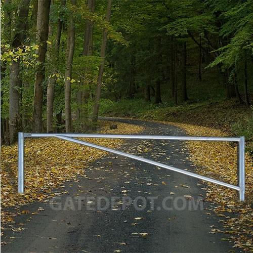 Duragate Dgt Br Steel Barrier Gate Round Tubular 10 1 2