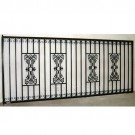 DuraGate GU-4020 Guardian Flat Top 6' Single 14' Wide Driveway Gate