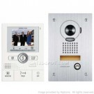 AiPhone JKS-1AEDF Pantilt Zoom Hands-Free 1 X 2 Color Video Set with Memory
