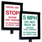 Guardian Traffic Systems 14110.100 Manual Spikes Warning Sign - Reflective