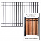 DuraGate DGT-F8W 5' Fence Section - Accepts Wood Infill