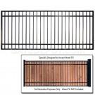 DuraGate DGT-10x5-FSW Flat Top 10' Wide Driveway Gate - Single - Accepts Wood Infill