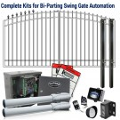 DuraGate KIT-16-ADF Arch Top 16' Bi-Parting Swing Gate & Automation Kit w/ Finial Stubs