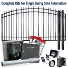 DuraGate KIT-12-ASF Arch Top 12' Single Swing Gate & Automation Kit w/ Finial Stubs