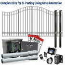 DuraGate KIT-16-BD Bell Curve 16' Bi-Parting Swing Gate & Automation Kit