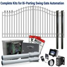 DuraGate KIT-14-BDF Bell Curve 14' Bi-Parting Swing Gate & Automation Kit w/ Finial Stubs