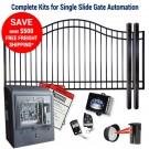 DuraGate KIT-12-BS-SL Bell Curve 12' Single Slide Gate & Automation Kit