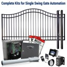 DuraGate KIT-12-BS Bell Curve 12' Single Swing Gate & Automation Kit