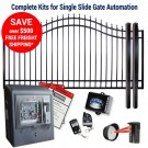 DuraGate KIT-12-BSF-SL Bell Curve 12' Single Slide Gate & Automation Kit w/ Finial Stubs