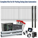 DuraGate KIT-12X5-FD Flat Top 12x5' Bi-Parting Swing Gate & Automation Kit