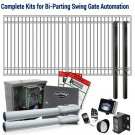 DuraGate KIT-12X6-FD Flat Top 12x6' Bi-Parting Swing Gate & Automation Kit
