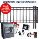 DuraGate KIT-14X5-FS-SL Flat Top 14x5' Single Slide Gate & Automation Kit