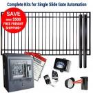 DuraGate KIT-10X6-FS-SL Flat Top 10x6' Single Slide Gate & Automation Kit