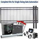 DuraGate KIT-10X5-FS Flat Top 10x5' Single Swing Gate & Automation Kit