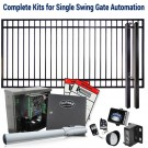 DuraGate KIT-12X6-FS Flat Top 12x6' Single Swing Gate & Automation Kit