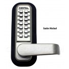 Lockey 2835 Passage Lever Handle - Satin Nickel