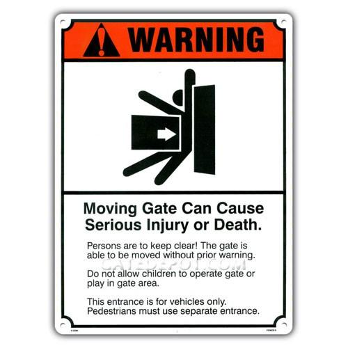 Miller Edge GWS-1 Gate Warning Sign