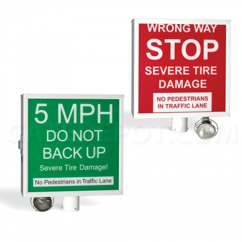 DoorKing 1615-081 Warning Sign - Automated Spike Systems
