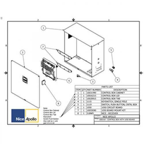 Replacement Parts Diagram - Apollo 1550-1650 Parts Diagram