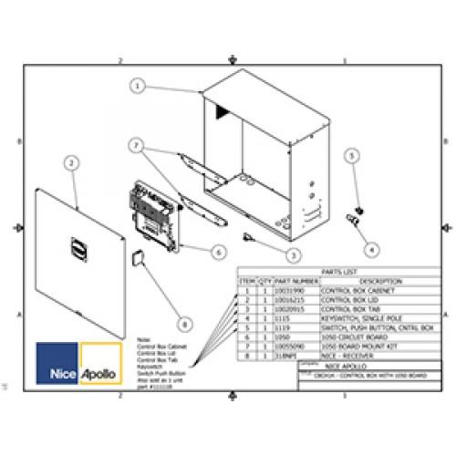 Replacement Parts Diagram - Apollo 3500-3600 Parts Diagram