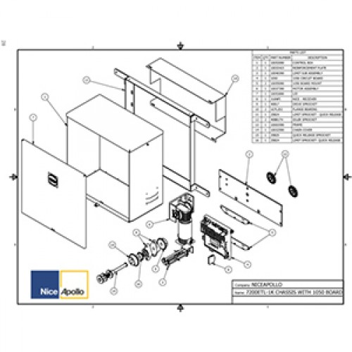 Replacement Parts Diagram - Apollo 7200 Parts Diagram