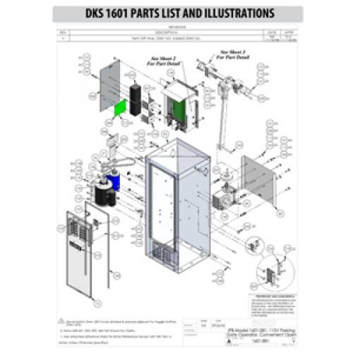 Replacement Parts Diagram - DoorKing 1601 Parts Diagram